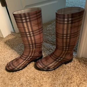 Authentic Burberry Tall Rain Boots